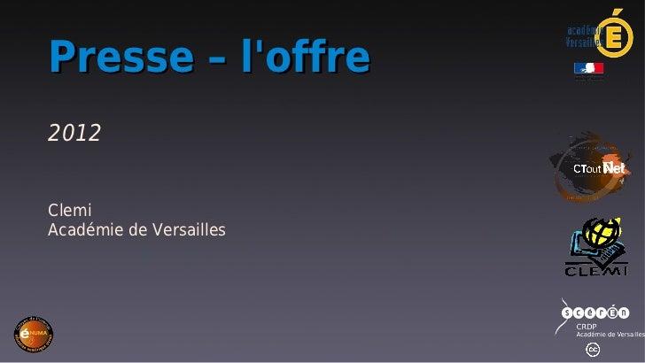 Presse – loffre2012ClemiAcadémie de Versailles