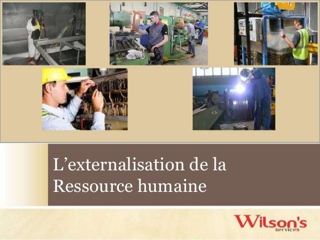 L'externalisation de la Ressource humaine