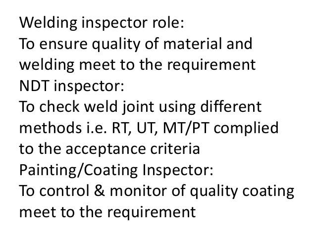Offshore qc welding inspection versi 1 for Painting coating inspector jobs