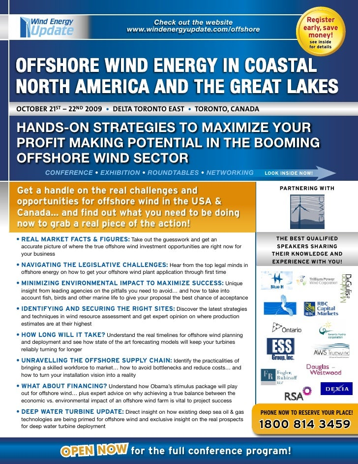 Offshore Wind Energy In Coastal North America And The Great Lakes Conference