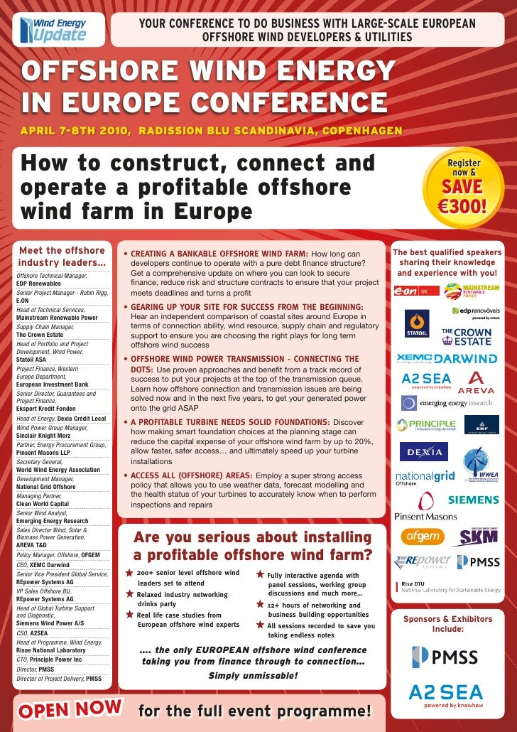 YOUR CONFERENCE TO DO BUSINESS WITH LARGE-SCALE EUROPEAN                                                       OFFSHORE WI...