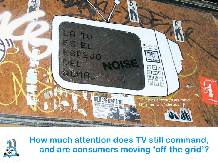 """La TV es el espejo del alma"".                         TV is mirror of the soulHow much attention does TV still command,  ..."