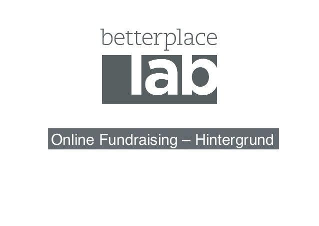 Online Fundraising – Hintergrund!