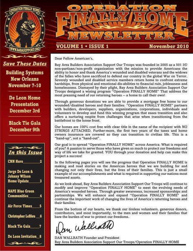 Save These Dates  Building Systems New Orleans November 7-10  De Leon Home Presentation December 3rd  Black Tie Gala Decem...