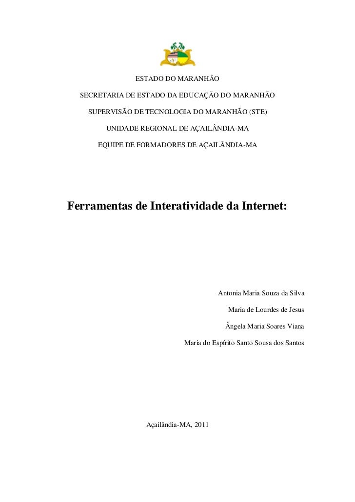 ESTADO DO MARANHÃO  SECRETARIA DE ESTADO DA EDUCAÇÃO DO MARANHÃO    SUPERVISÃO DE TECNOLOGIA DO MARANHÃO (STE)        UNID...
