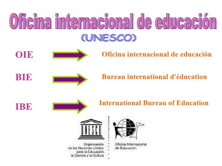 oficina internacional de educaci n