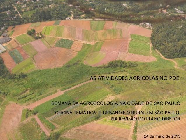Oficina - Rural e Urbano em São Paulo