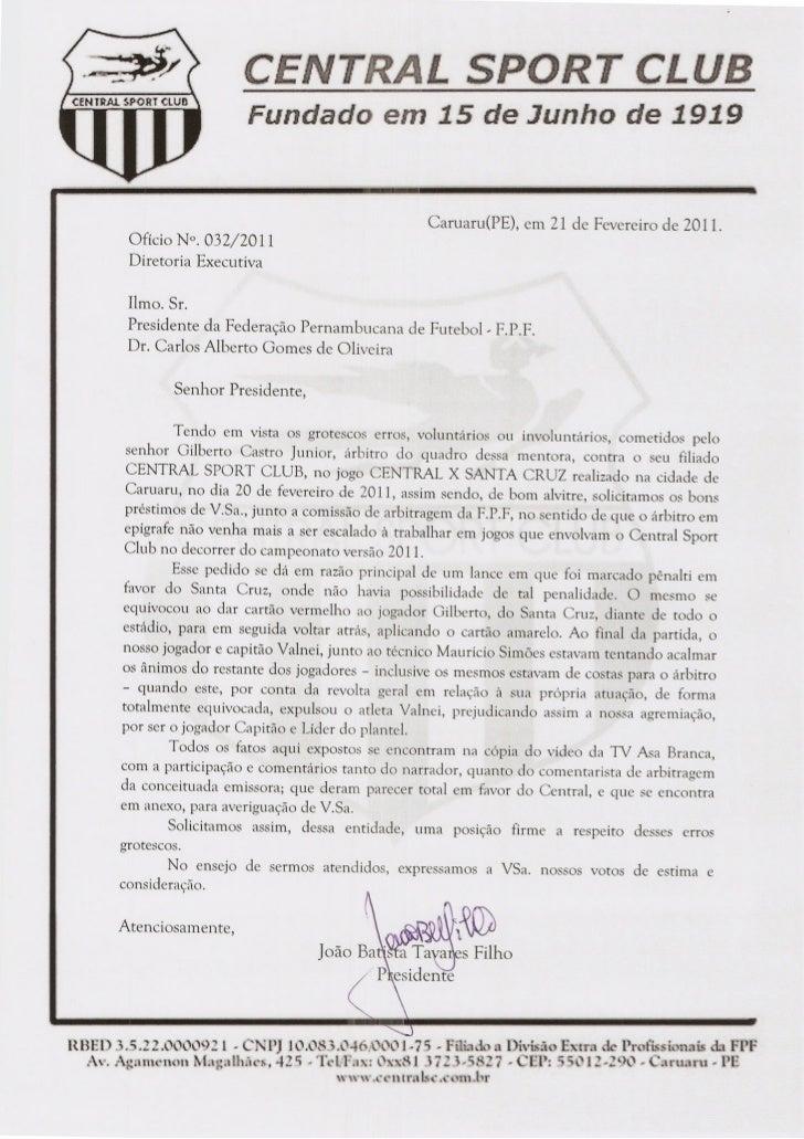 Central representa contra Gilberto Castro Júnior