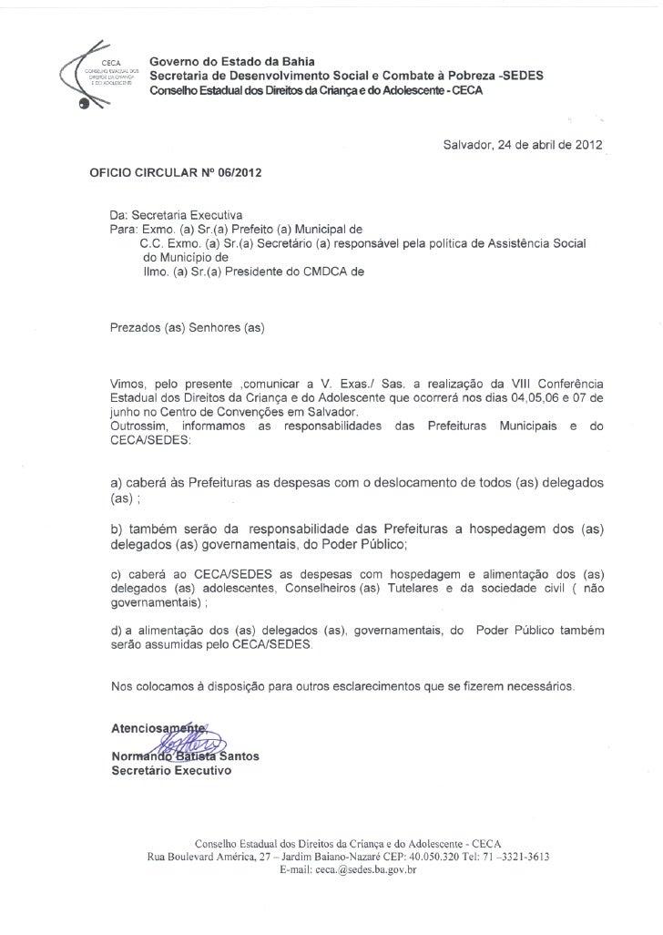 Oficio circular 06  2012