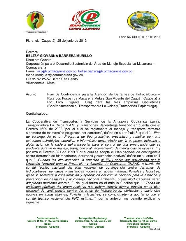 Cootransamazonia Transportes Rapientrega Transportadora La Ceiba Carrera 11 No. 1ª -02, Barrio Brisas Bajas Florencia - Ca...