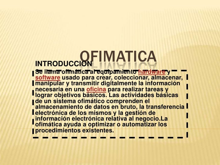Ofimatica diapositiva