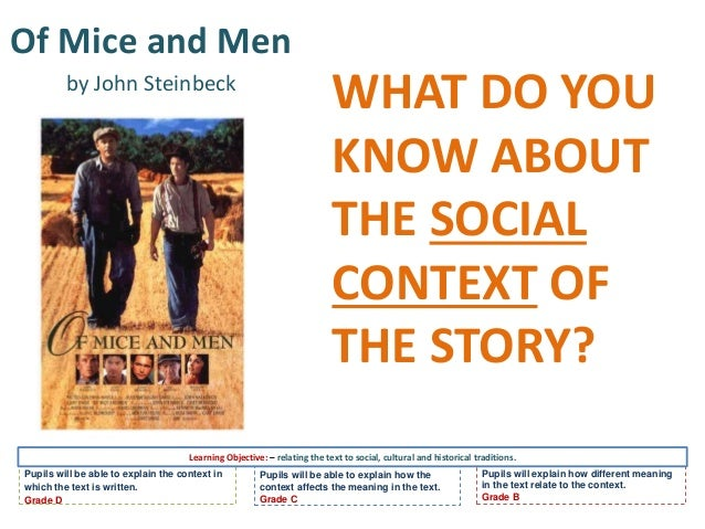 an analysis of of mice and men A list of all the characters in of mice and men the of mice and men characters  covered include: lennie, george, candy, curley's wife, crooks, curley, slim,.