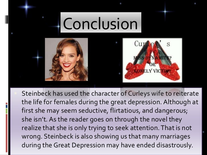Curley's wife essay Steinbeck uses many different