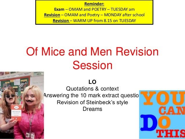 OF MICE & MEN AND POETRY REVISION