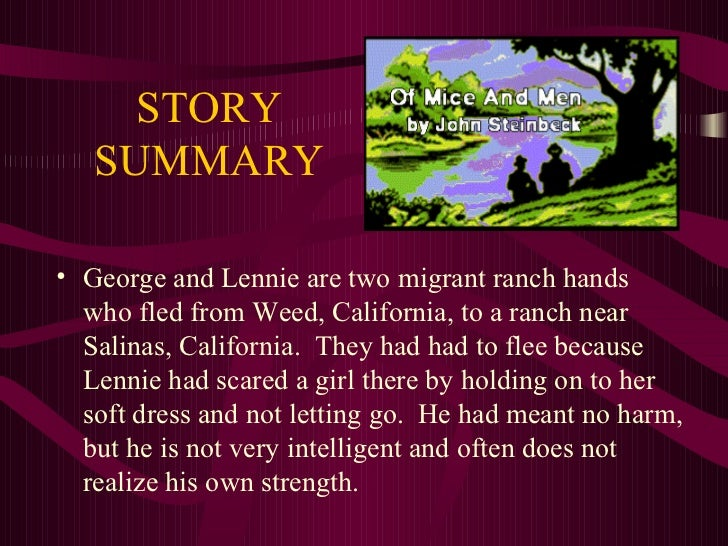 in the novel of mice and men essay Of mice and men this essay of mice and men and other 63,000+ term papers, college essay examples and free essays are available now on reviewessayscom.