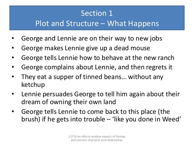 lennie essay This is a pupil essay  how effectively does john steinbeck present crooks  how effectively does john steinbeck present crooks.