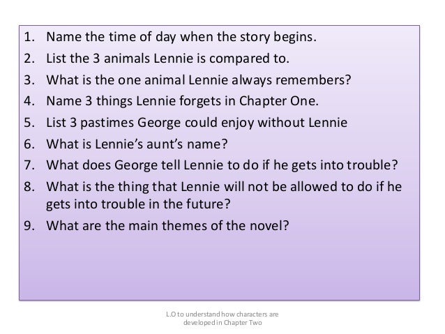 What is a good Creative title for an Of mice and men essay?