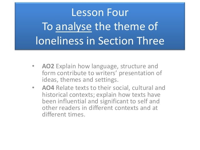 explore the theme of loneliness in of mice and men essay Example essay responses question:explore the significance of the character how does the writer present the theme of loneliness in 'of mice and men.