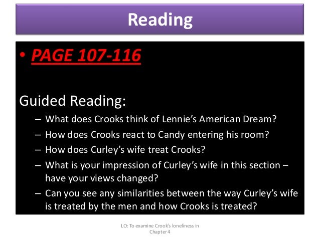 How does Steinbeck show that the treatment of Crooks is unfair in Of Mice and Men?