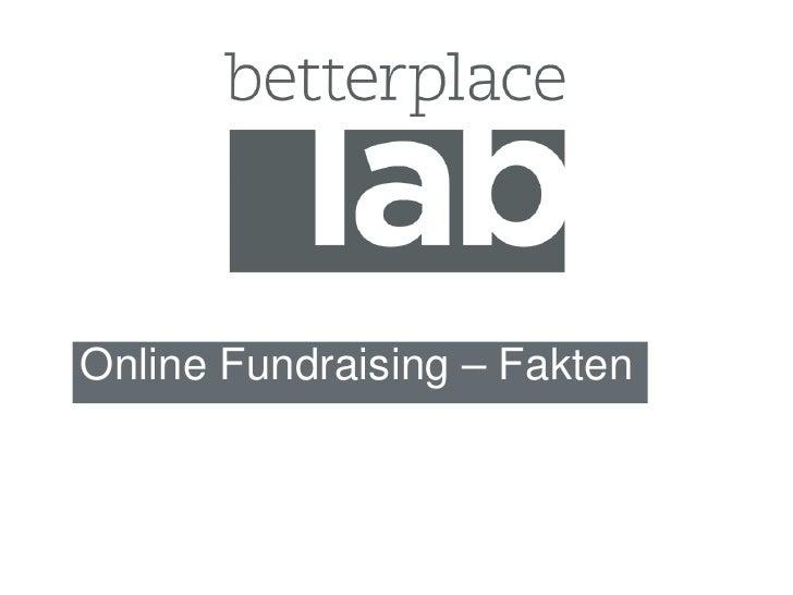Online Fundraising – Fakten