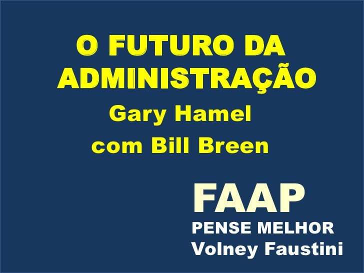 O Futuro da Administração VF