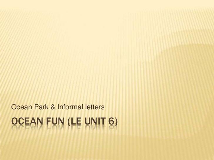 Of vocab and informal letter