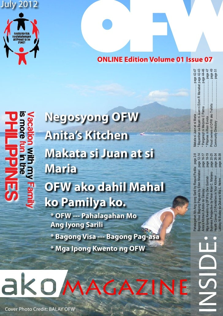 July 2012Cover Photo Credit: BALAY OFW                                                                                    ...