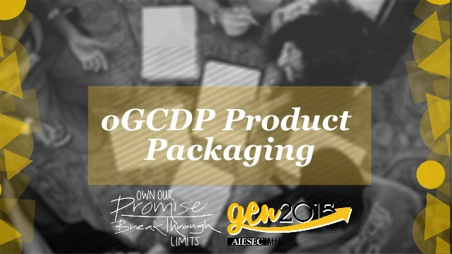 oGCDP Product Packaging!