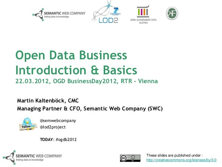 Introduction: Open Data Business