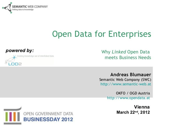 Open Data for Enterprisespowered by:               Why Linked Open Data                           meets Business Needs    ...