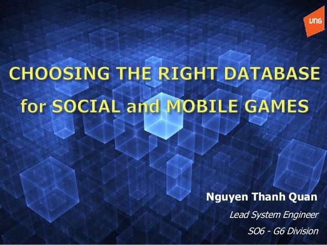 Ogdc 2013 choosing the right database for social mobile game