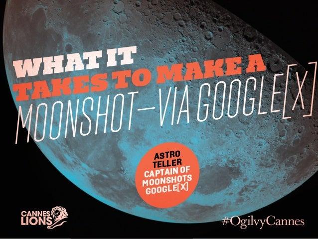 Whatittakesto makeaMoonshot—viaGoogle[x]AstroTellerCaptain ofMoonshotsGoogle[x]