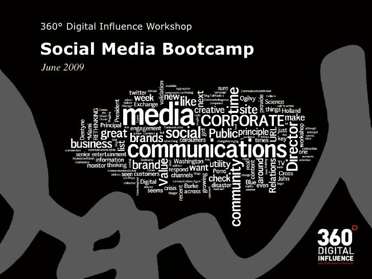 360° Digital Influence Workshop  Social Media Bootcamp June 2009