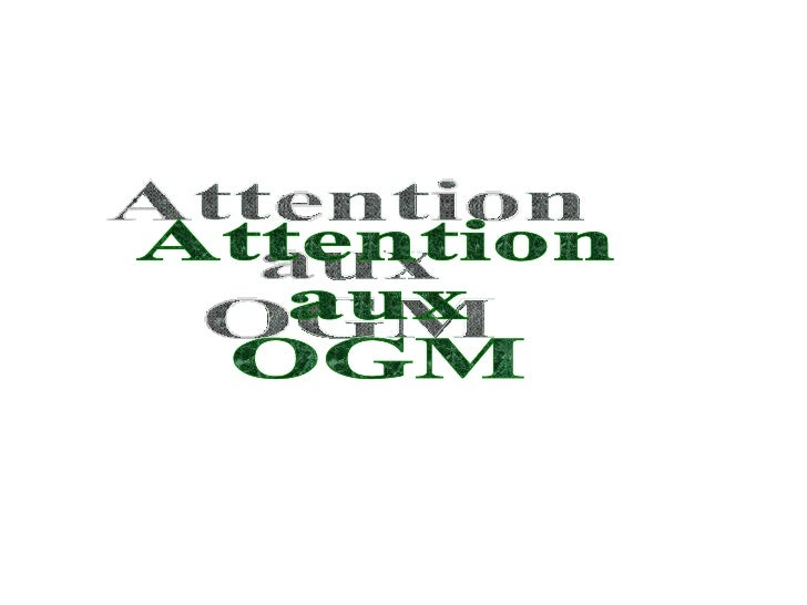 Attention  aux  OGM