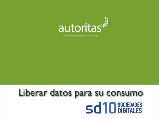 Liberar datos para su consumo