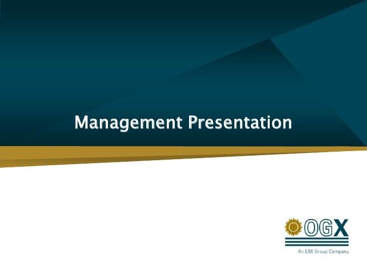Management Presentation<br />