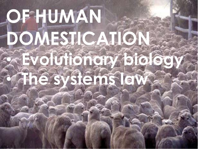 Of human domestication: evolutionary biology and the systems law