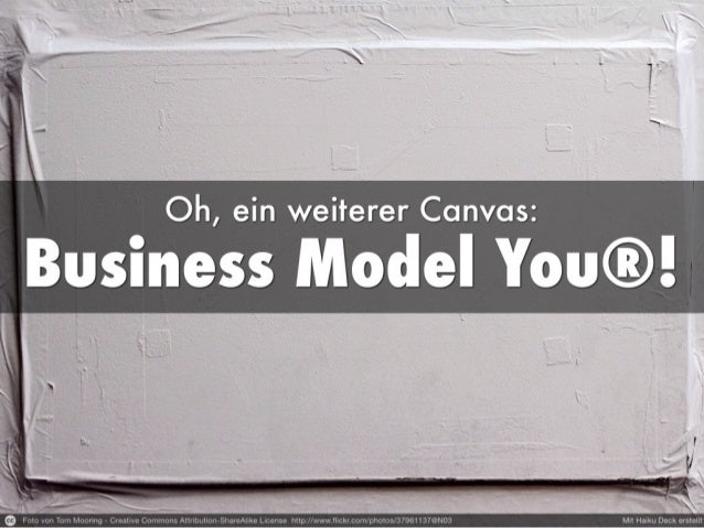 Oh, ein weiterer Canvas: Business Model You®!