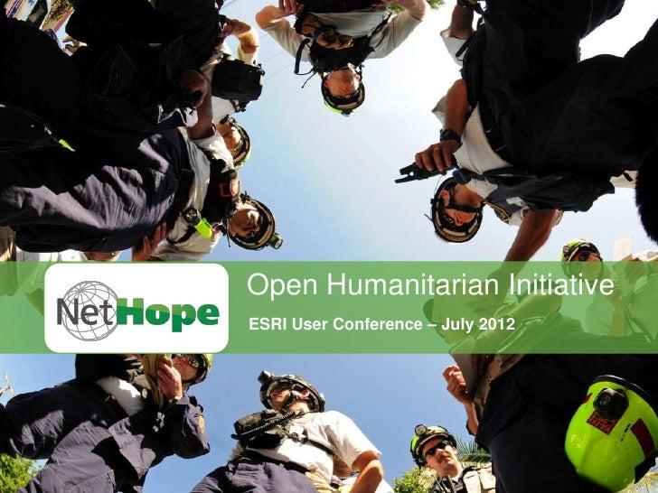 Open Humanitarian Initiative - ESRI User Conference Presentation