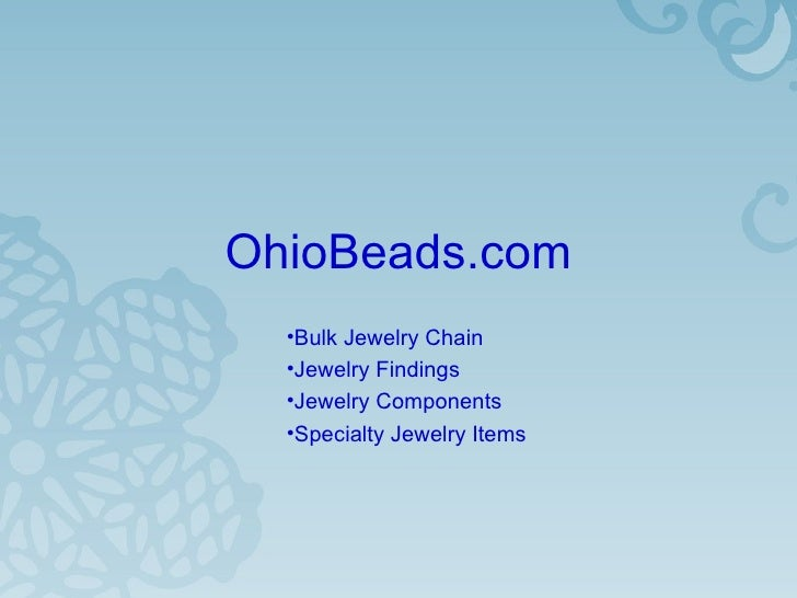 OhioBeads.com Finished Jewelry and DIY Jewelry Components 20080215