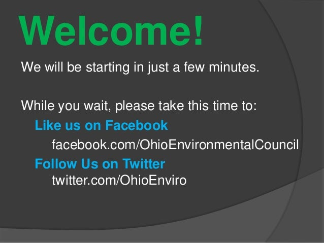 Welcome!We will be starting in just a few minutes.While you wait, please take this time to:Like us on Facebookfacebook.com...