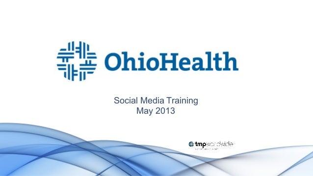 Social Media Training May 2013