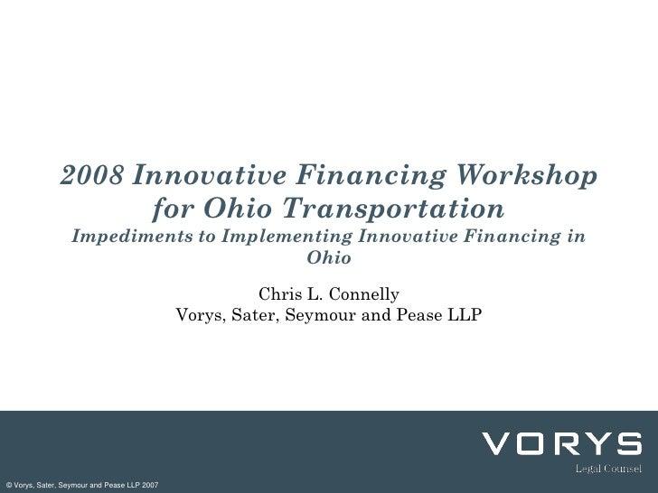 Ohio Innovative Financing In Transportation