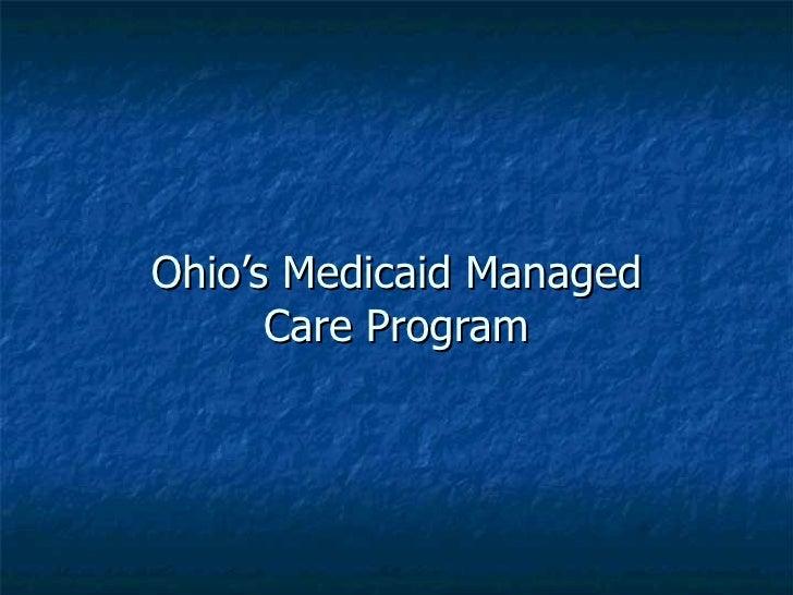 Ohio's Medicaid Managed Care Program