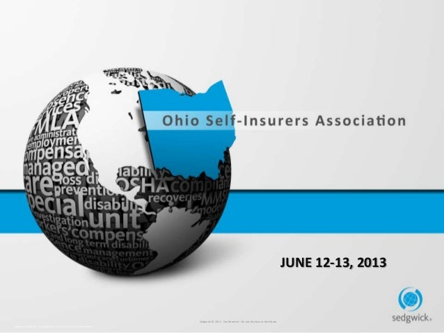 Ohio Self-Insurers Association 2013