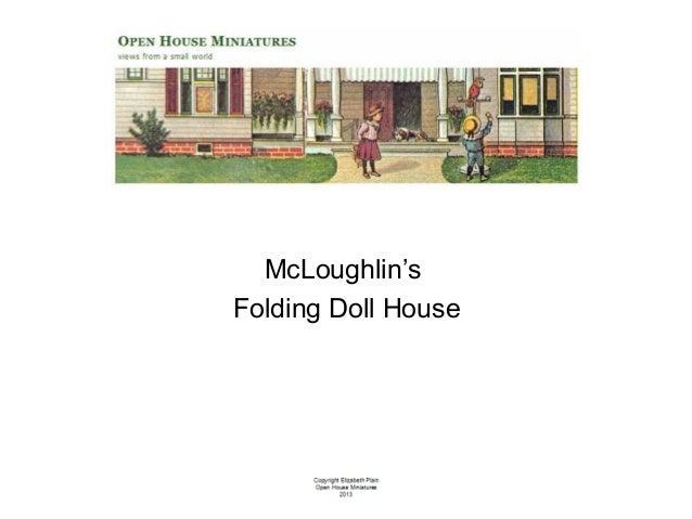 Miniature McLoughlin Folding Doll House