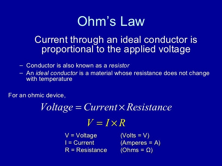 experiment ohmic resistance and ohm s law Ohm's law - resistance below are the results of an experiment my group did at school while i was away sick the experiment was to determine the resista.