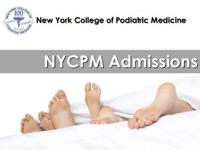New York College of Podiatric Medicine NYCPM Admissions
