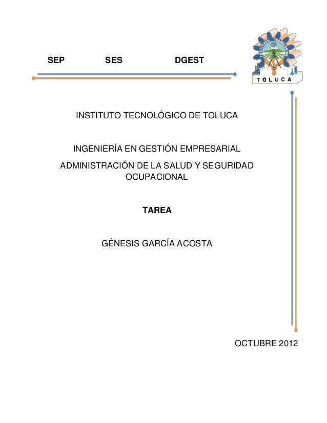 SEP         SES            DGEST      INSTITUTO TECNOLÓGICO DE TOLUCA      INGENIERÍA EN GESTIÓN EMPRESARIAL  ADMINISTRACI...