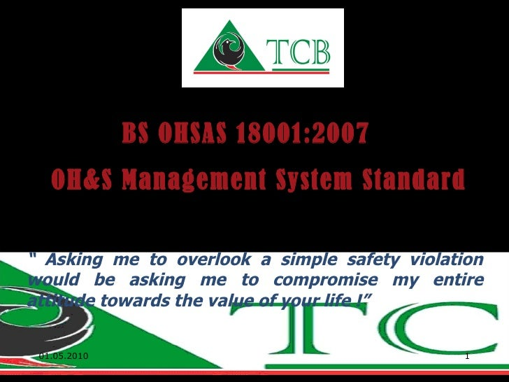 OHS Mgt.System Awareness Presentation by TCB